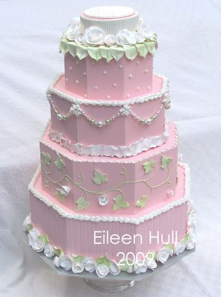 Eileen Hull Pink & White paper cake