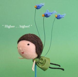 Phillipa Felt Girl Birds Flying