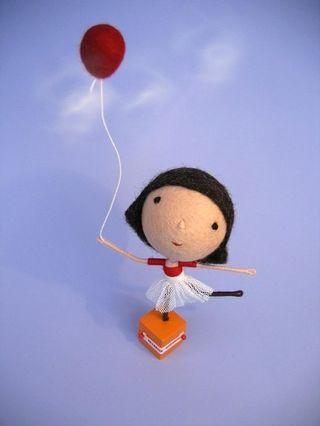 Phillipa Felt Girl with ballon