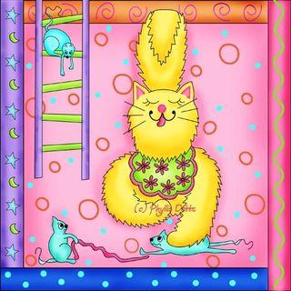 Phyllis Dobb cat art
