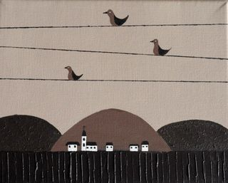 Moon Fod Bird on Wire