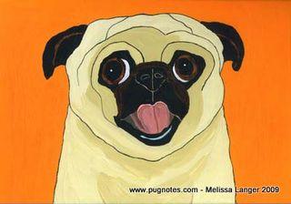 Melissa Langer Pug Orange