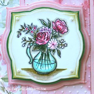 Mary B. Giemza Card Art flower vase