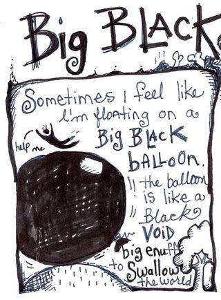 Violette Clark black balloon