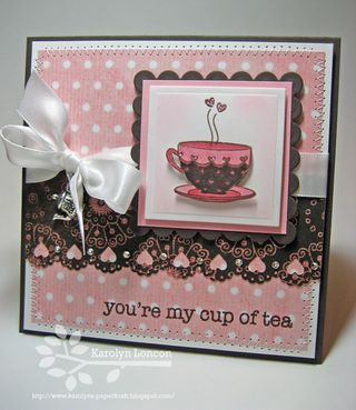 Karolyn Loncon Cup of tea card