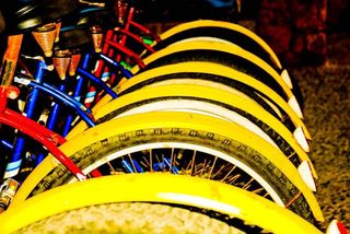 Courtney yellow tires