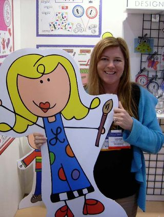 Laura Kelly with big doodle girl