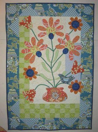 Pat sloan blue bird of happiness garden of applique