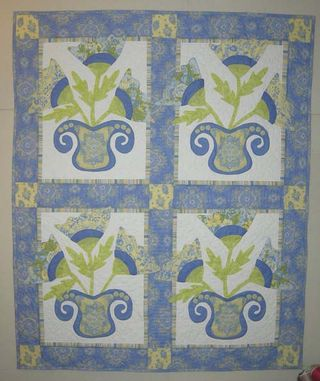 Pat Sloan fresh flowers garden of applique